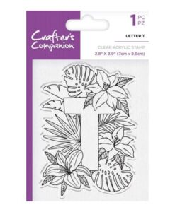 Crafter's Companion Clear Stamp - Letter T