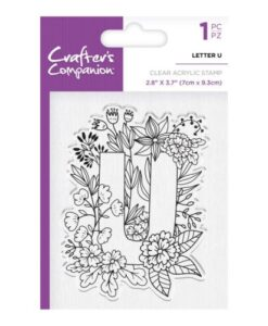 Crafter's Companion Clear Stamp - Letter U