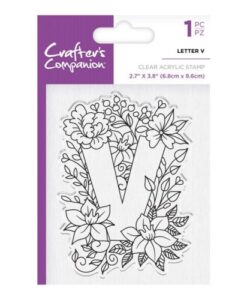 Crafter's Companion Clear Stamp - Letter V
