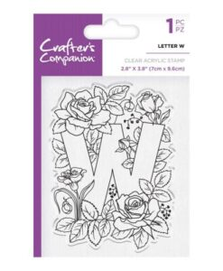 Crafter's Companion Clear Stamp - Letter W