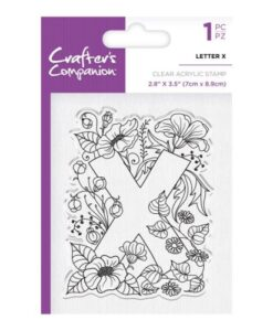 Crafter's Companion Clear Stamp - Letter X