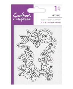 Crafter's Companion Clear Stamp - Letter Y