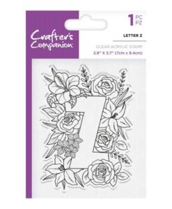 Crafter's Companion Clear Stamp - Letter Z
