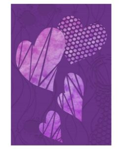 Gemini 3D Embossing Folder & Stencil - Contemporary Hearts