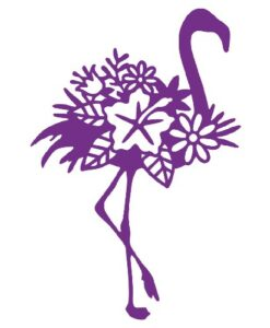 Gemini Elements Silhouette Animal Dies - Silhouette Flamingo