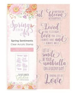 Spring is in the Air Clear Stamp - Spring Sentiments