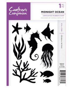 Crafter's Companion A6 UM Stempel – Midnight Ocean