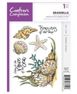 Crafter's Companion A6 UM Stempel – Seashells
