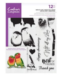 Crafter's Companion Clear Stamp – Birds of Love