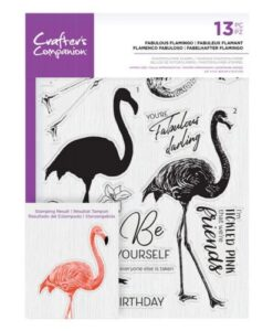 Crafter's Companion Clear Stamp – Fabulous Flamingo