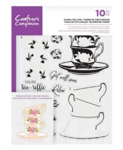 Crafter's Companion Clear Stamp – Floral Tea Cups