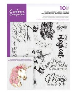 Crafter's Companion Clear Stamp – Magical Unicorn