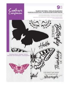 Crafter's Companion Clear Stamp – Majestic Butterfly
