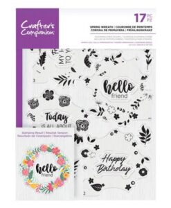 Crafter's Companion Clear Stamp – Spring Wreath