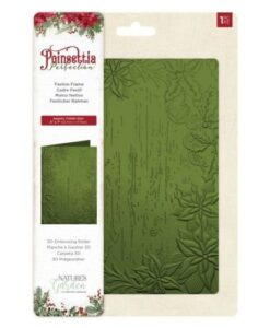 Poinsettia Perfection 3D Embossing Folder - Festive Frame