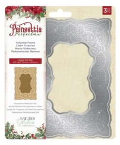 Poinsettia Perfection Metal Die – Victorian Frame