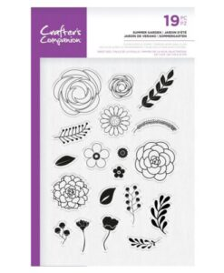 Crafter's Companion Clear Stamp – Summer Garden