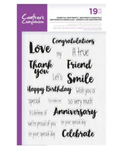 Crafter's Companion Clear Stamp – Essential Sentiments