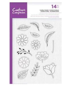 Crafter's Companion Clear Stamp – Floral Fusion