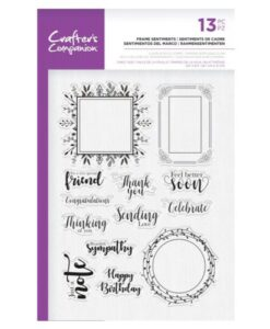 Crafter's Companion Clear Stamp – Frame Sentiments