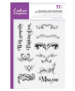 Crafter's Companion Clear Stamp – Ornate Swirls