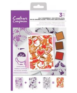 Crafter's Companion Background Layering Stamp - Jolly Gingerbread