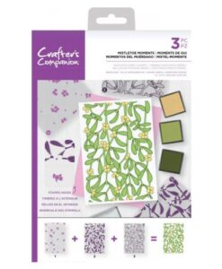 Crafter's Companion Background Layering Stamp - Mistletoe Moments