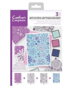 Crafter's Companion Background Layering Stamp - Snowflake Medley