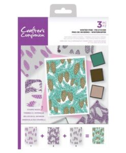 Crafter's Companion Background Layering Stamp - Winter Pine