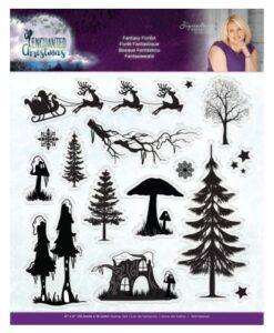 Enchanted Christmas Clearstamp - Fantasy Forest
