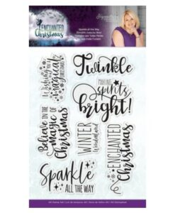 Enchanted Christmas Clearstamp - Sparkle all the way