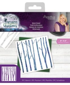 Enchanted Christmas Stencil -Birch Forest