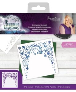 Enchanted Christmas Stencil - Enchanting Snowfall