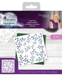 Enchanted Christmas Stencil - Forest Vines
