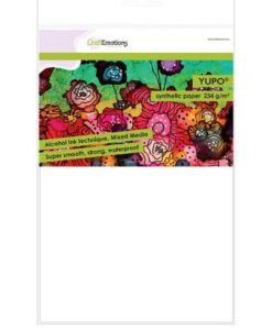 CraftEmotions Synthetisch papier - Yupo Wit 10 vl