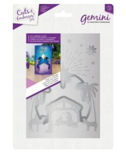 Gemini Cut and Emboss Folder – Away in a Manger