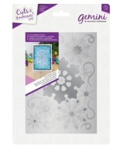 Gemini Cut and Emboss Folder – Snowflake Swirls