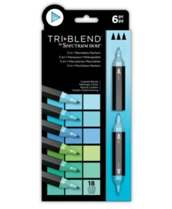 Spectrum Noir TriBlend Markers- Coastal Blends 6 pk