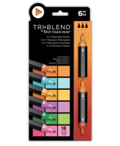 Spectrum Noir TriBlend Markers- Exotic Blends 6 pk