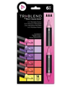 Spectrum Noir TriBlend Markers- Floral Blends 6 pk