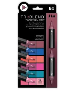 Spectrum Noir TriBlend Markers- Jewel Shades 6 pk
