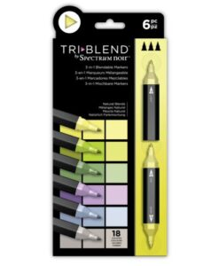 Spectrum Noir TriBlend Markers- Natural Blends 6 pk