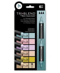 Spectrum Noir TriBlend Markers- Vintage Blends 6 pk