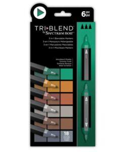 Spectrum Noir TriBlend Markers- Woodland Shades 6 pk