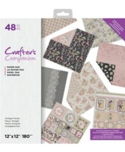 Crafter's Companion 30x30 cm Paperpad - Vintage Florals