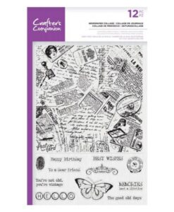 Crafter's Companion Large Background Stamp - Newspaper Collage
