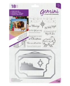Gemini Photo Frame Stamp and Die - Christmas Blessings