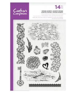 Crafter's Companion Clear Stamp - Vintage Accents