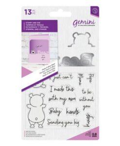 Gemini Peek-A-Boo Stamp & Die - Bear