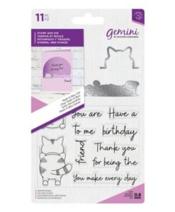 Gemini Peek-A-Boo Stamp & Die - Cat